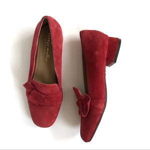 Bettye Muller Concept Calf Suede Loafers Red
